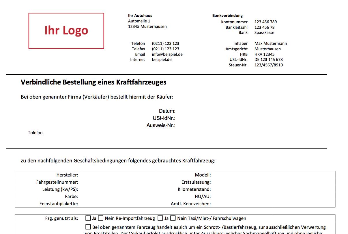 KFZ-Kaufvertrag: Gebrauchtwagenhandel   Autofreund24