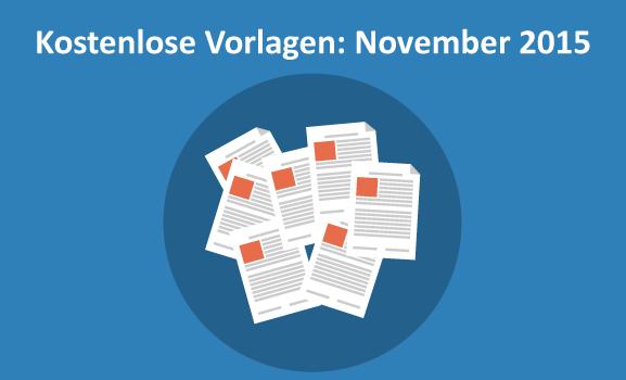 Kostenlose Vorlagen November 2015