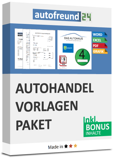 Autohandel Vorlagen Paket