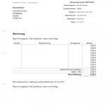 Allgemeine Rechnungsvorlage (Word, selbstrechnend)