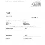 Rechnung Differenzbesteuerung (Word)