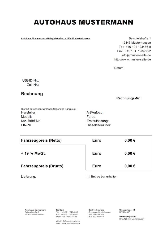 Großartig Fahrzeugkaufvertrag Vorlage Galerie - Entry Level Resume ...