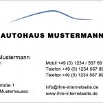 Visitenkarte für den Autohandel